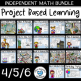PBL Math Enrichment Project Bundle Project Based Learning Activities