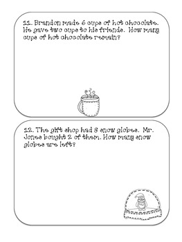 Christmas Math Journal - 1st grade