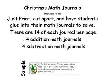 Christmas Math Journals