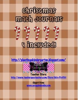 Christmas Math Journals EC-2
