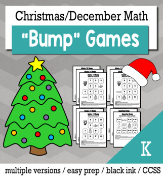 Christmas Math Kindergarten+ Bump Games Bundle