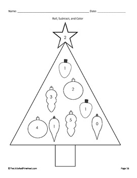 Christmas Math & Literacy Activities - Tree and Ornaments
