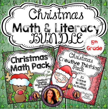 Christmas Math & Literacy BUNDLE for 5th