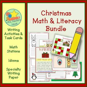 Christmas Activities Math and Literacy Bundle