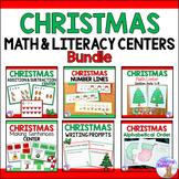 Christmas Math & Literacy Centers Bundle