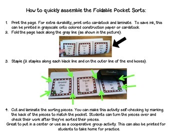 Christmas Math & Literacy Foldable Pocket Sorts ~ FREEBIE
