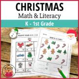 Christmas Math & Literacy - K - 1st