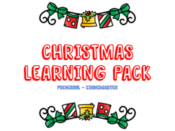 Christmas Math, Literacy & Logic Learning Pack