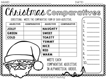Christmas Math & Literacy Print & Go
