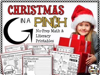 Christmas Math & Literacy Print & Go