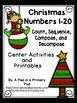 Christmas Math, Literacy, Sight Words, and Emergent Reader