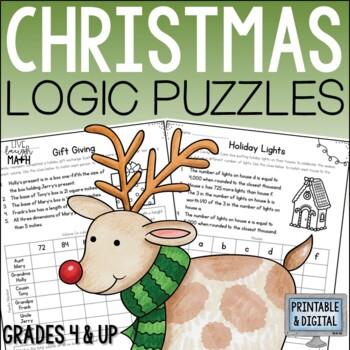 Christmas Math Logic Puzzles