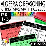 Christmas Math Logic Puzzles: Algebraic Reasoning