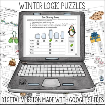 Winter Math Logic Puzzles {Critical Thinking Activities for Grades 3-4}