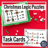 Christmas Math Logic Puzzles Task Cards