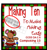 Christmas Math Making Ten to Add