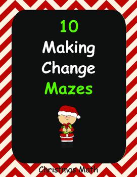 Christmas Math: Making Change Maze