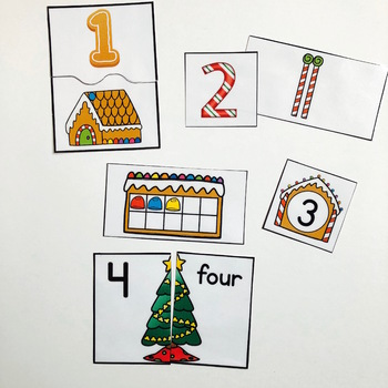 Christmas Math Matches: Numbers 1-20