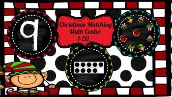 Christmas Math Matching Center 1-20