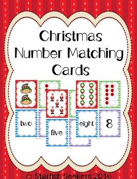 Christmas Math: Matching Number Cards