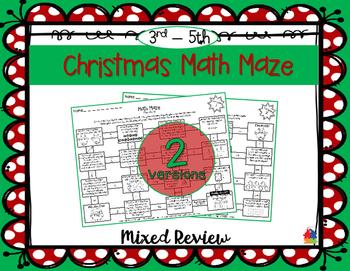 Christmas Math Mazes (3rd - 5th)