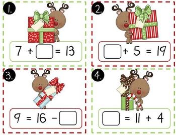 Christmas Math Mega Pack (Christmas Themed Math Centers for First Grade)