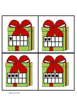 Christmas Math Memory Game