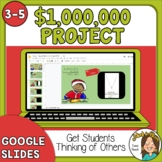 Christmas Math Million Dollar Project GOOGLE SLIDES Digita
