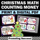 Counting Money Task Cards, Dollars and Coins, 2nd Grade Christmas Math Centers