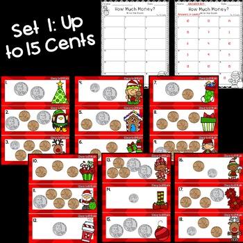 Christmas Math: Money Write the Room