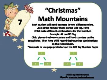 Christmas Math Mountains