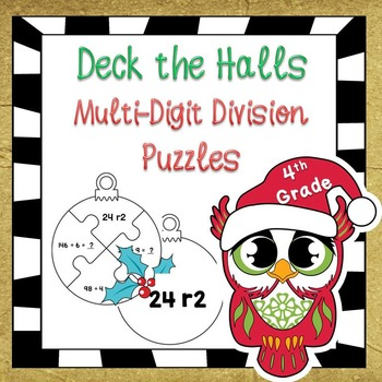 Christmas Math - Multi-Digit Division