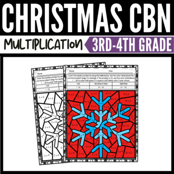 Christmas Math Multiplication Color-by-Number Worksheets