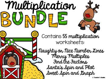Christmas Math Multiplication Worksheets