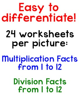 Christmas Math - Multiplication and Division Mystery Pictures Bundle