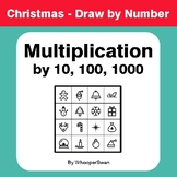 Christmas Math: Multiplication by 10, 100, 1000 - Math & A