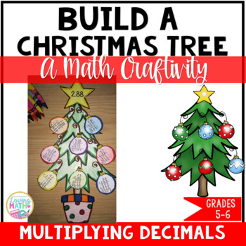 Christmas Math - Multiplying Decimals Craftivity