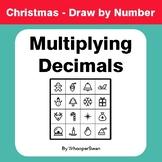 Christmas Math: Multiplying Decimals - Math & Art - Draw b