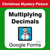 Christmas Math: Multiplying Decimals - Mystery Picture - Google Forms