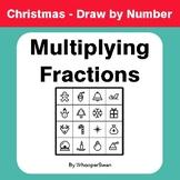 Christmas Math: Multiplying Fractions - Math & Art - Draw