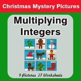 Christmas Math: Multiplying Integers - Color-By-Number Math Mystery Pictures