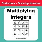 Christmas Math: Multiplying Integers - Math & Art - Draw b