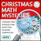 Christmas Place Value -  Detective Math Mystery Project