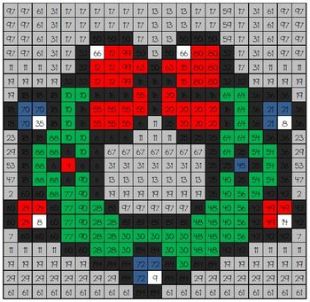 Christmas Math Mystery Picture #10  ~ Multiplication