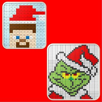 Christmas Math Mystery Picture BUNDLE #1  ~ Addition and Subtraction