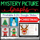 Christmas Math Activities Mystery Picture Graphs + Digital