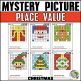 Christmas Math Mystery Picture Place Value