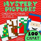 Christmas Math Mystery Pictures {100 Chart} *DIFFERENTIATED*