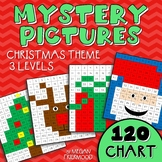 Christmas Math Mystery Pictures {120 Chart} *DIFFERENTIATED*
