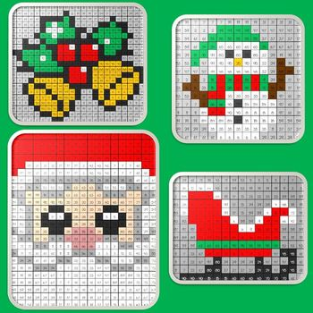 Christmas Math Mystery Pictures Bundle #2  ~ Multiplication
